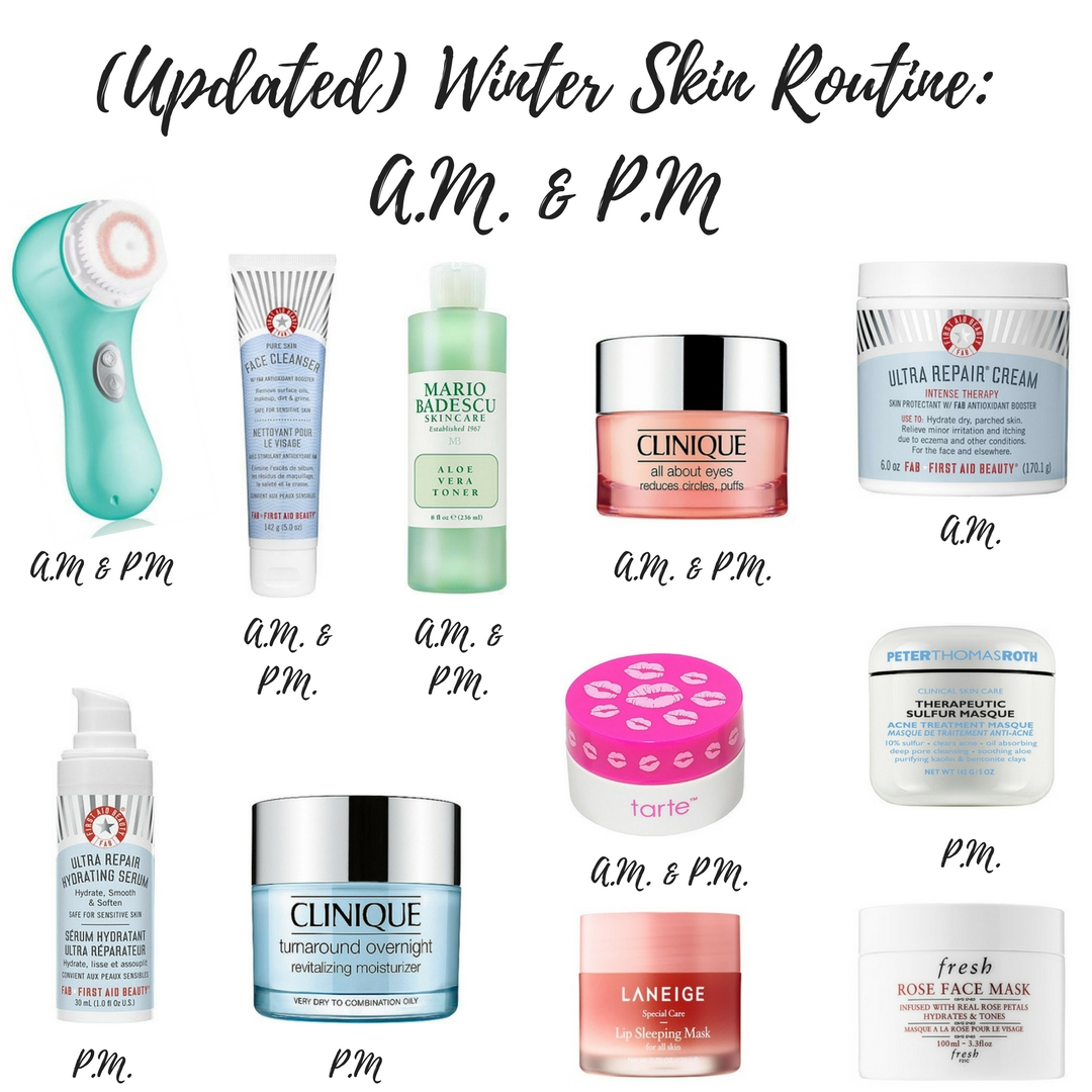 (UPDATED) WINTER SKINCARE ROUTINE: A.M. & P.M.