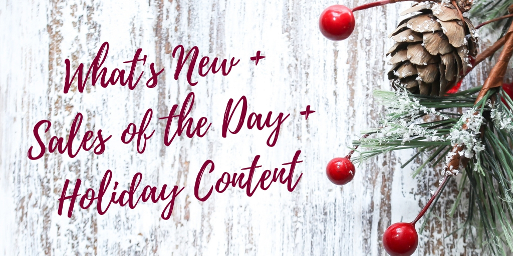 WHAT'S NEW + HOLIDAY BLOG CONTENT
